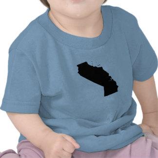 Mapa al revés de California Camisetas