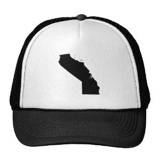 Mapa al revés de California Gorras De Camionero