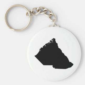 Mapa al revés de Carolina del Sur Llavero Redondo Tipo Pin