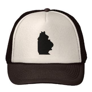 Mapa al revés de Illinois Gorra