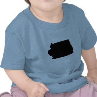 Mapa al revés de Iowa Camiseta