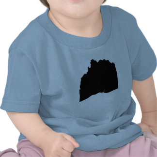 Mapa al revés de Ohio Camisetas