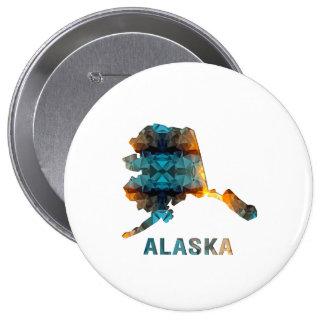 Mapa ALASKA del estado del mosaico del polígono Pin