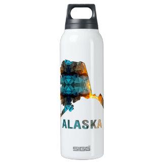 Mapa ALASKA del estado del mosaico del polígono