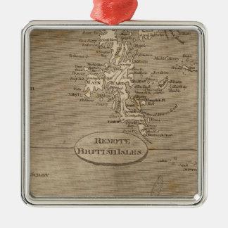 Mapa alejado de las islas británicas por adorno