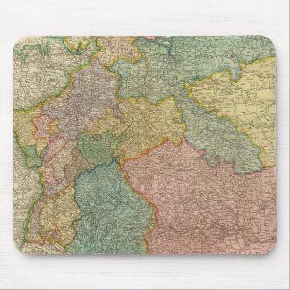 Mapa alemán del atlas del imperio alfombrilla de raton