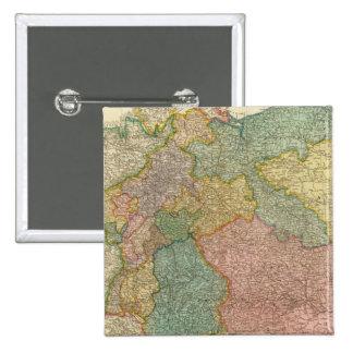 Mapa alemán del atlas del imperio pin cuadrado