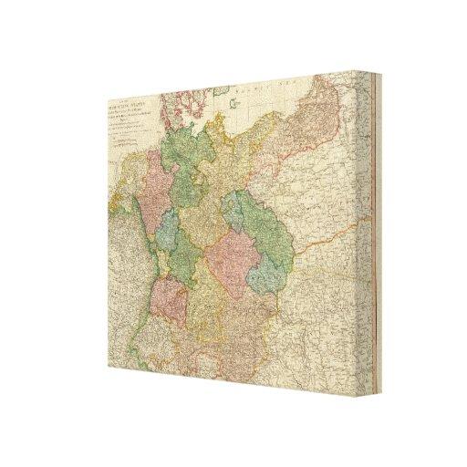 Mapa alemán del imperio lienzo envuelto para galerías