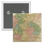 Mapa alemán del imperio pin cuadrado