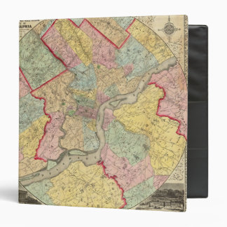 """Mapa alrededor de la ciudad de Philadelphia Carpeta 1 1/2"""""""