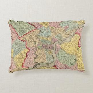 Mapa alrededor de la ciudad de Philadelphia Cojín