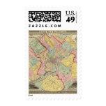Mapa alrededor de la ciudad de Philadelphia Estampilla