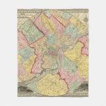 Mapa alrededor de la ciudad de Philadelphia Manta Polar
