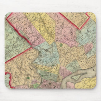 Mapa alrededor de la ciudad de Philadelphia Tapete De Ratón
