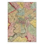 Mapa alrededor de la ciudad de Philadelphia Tarjeta De Felicitación