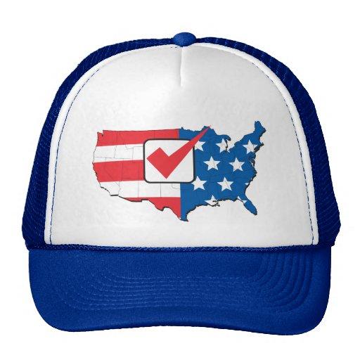 Mapa americano de la elección de los E.E.U.U. Gorras De Camionero