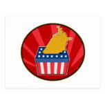 Mapa americano de la urna de la elección de los E. Postales