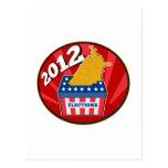 Mapa americano de la urna de la elección de los E. Postal