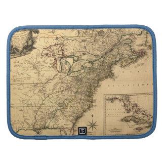 Mapa americano de las colonias del vintage 1777 po organizador