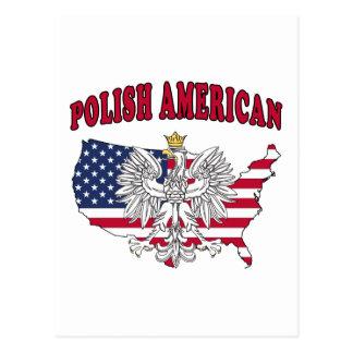 Mapa americano polaco tarjetas postales