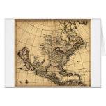 Mapa americano viejo tarjetas