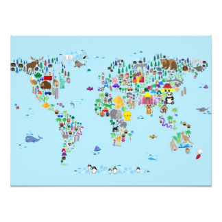 Mapa animal del mundo cojinete