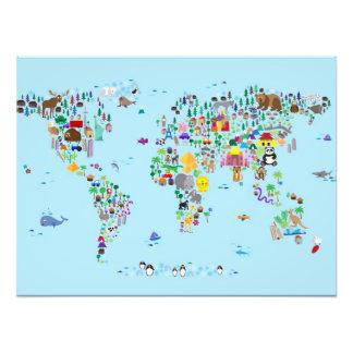 Mapa animal del mundo