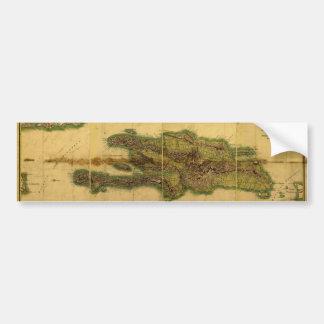Mapa anticuario de la obra clásica 1805 de La Espa Pegatina Para Auto