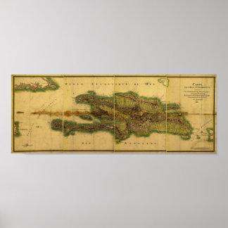 Mapa anticuario de la obra clásica 1805 de La Espa Póster