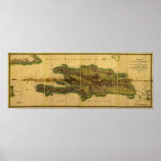 Mapa anticuario de la obra clásica 1805 de La Póster