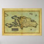 Mapa anticuario de la obra clásica 1823 de La Espa Posters