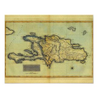 """Mapa anticuario de la obra clásica 1823 de La Invitación 4.25"""" X 5.5"""""""