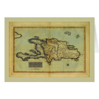 Mapa anticuario de la obra clásica 1823 de La Tarjeta De Felicitación