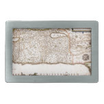 Mapa Antigo da Terra Santa, Israel Rectangular Belt Buckles