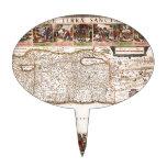 Mapa Antigo da Terra Santa, Israel Cake Toppers