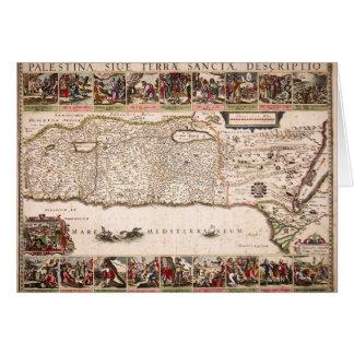 Mapa Antigo da Terra Santa, Israel Card