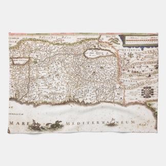 Mapa Antigo da Terra Santa, Israel Hand Towel