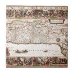 Mapa Antigo da Terra Santa, Israel Tiles