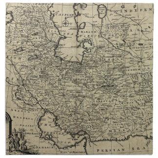 Mapa antiguo 1747 de Persia Servilleta De Papel
