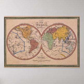 Mapa antiguo 2 impresiones