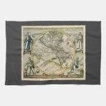Mapa antiguo, América Sive Novus Orbis, 1596 Toallas