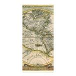 Mapa antiguo, América Sive Novus Orbis, 1596 Lona Personalizada