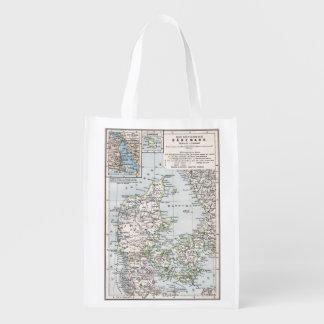 Mapa antiguo danés de Dinamarca, Danmark Bolsas De La Compra