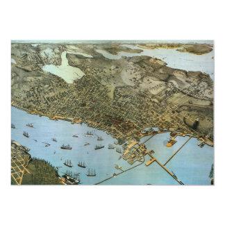 Mapa antiguo de Aeria del vintage de Seattle,