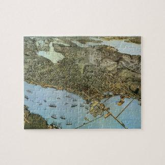 Mapa antiguo de Aeria del vintage de Seattle, Puzzle