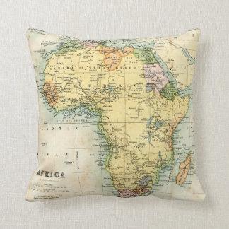 Mapa antiguo de África Almohadas