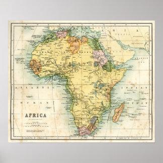 Mapa antiguo de África Posters