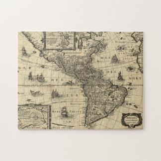 Mapa antiguo de América Puzzle