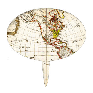 Mapa antiguo de Américas Figuras Para Tartas