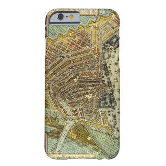 Mapa antiguo de Amsterdam, Países Bajos, Holanda Funda Barely There iPhone 6